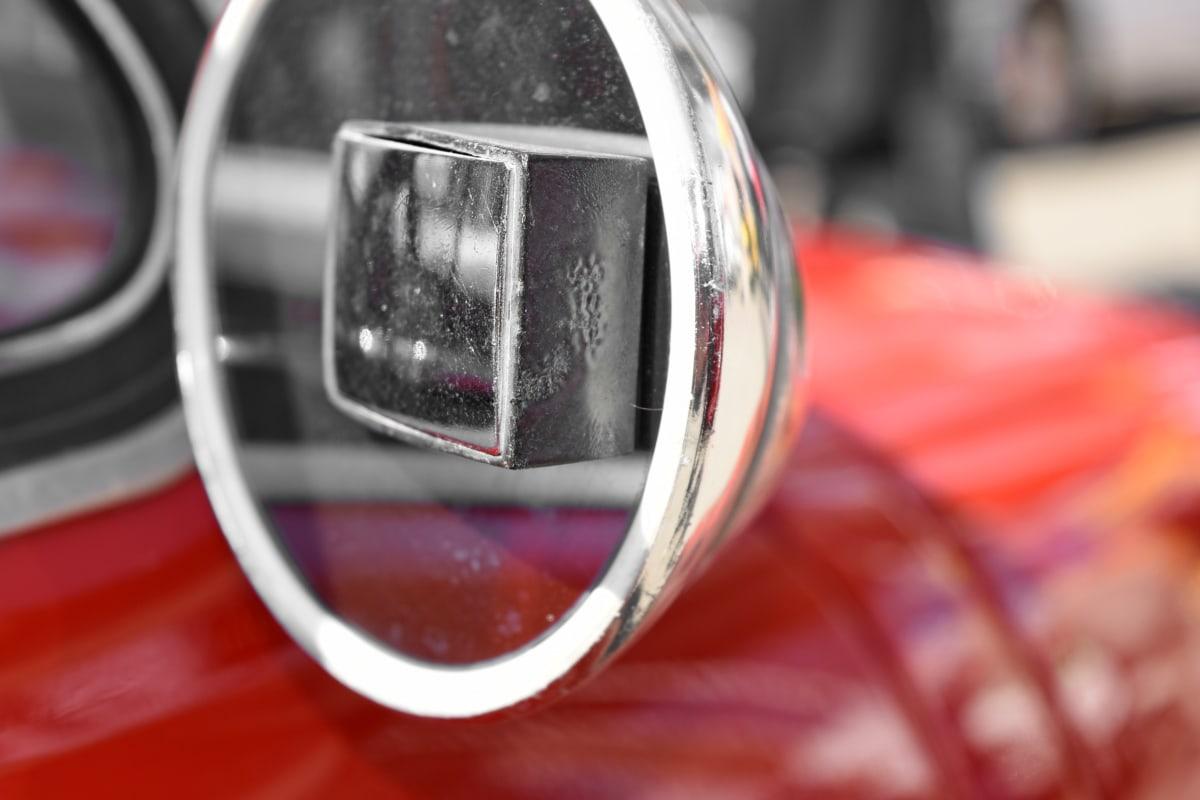chrome, mirror, reflection, car, shining, blur, vehicle, bright
