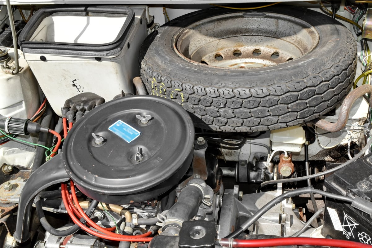 motor, mérnöki, szervízben, autó, garázs, kerék, meghajtó, autóipari