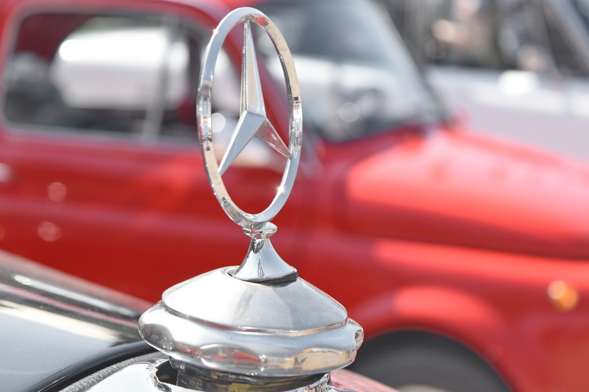 tysk, symbol, symmetri, bil, køretøj, kromi, hurtig, kørsel