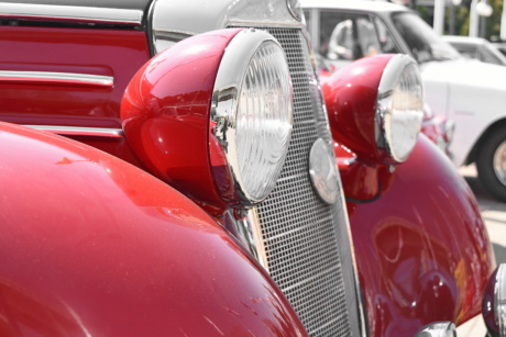 vehicle, chrome, grille, automobile, car, drive, headlight, industry