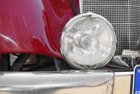 car, vehicle, headlight, drive, chrome, reflector, light, classic
