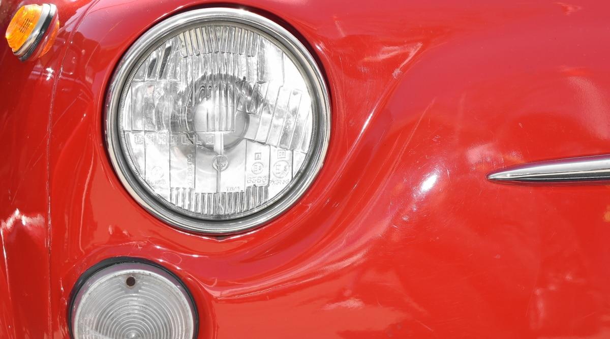 chrome, automobile, headlight, vehicle, barrier, car, bumper, drive