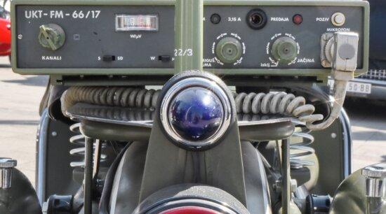 militärische, Mobile, Motorrad, Funk-Empfänger, Radiosender, Verstärker, Technologie, Ausrüstung