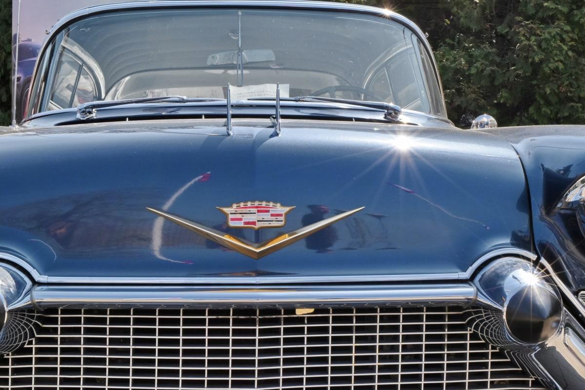 automobile, chrome, classic, car, vehicle, hood, headlight, automotive
