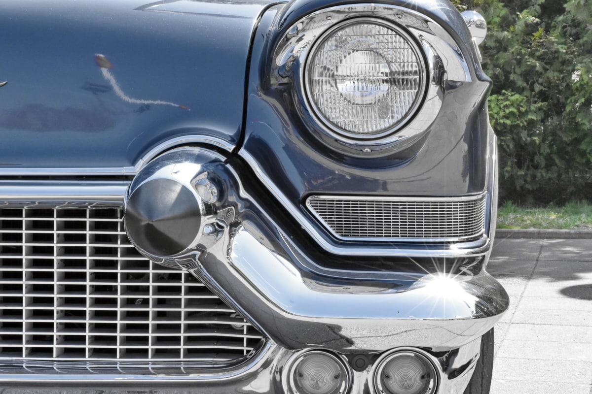 samochodowe, reflektorów, chrom, pojazd, samochodu, dysk, bariery, Classic