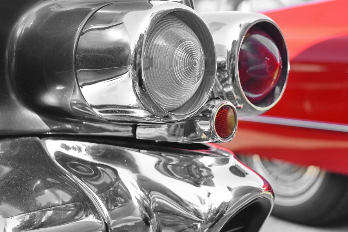 history, old style, automobile, transportation, car, chrome, headlight, vehicle