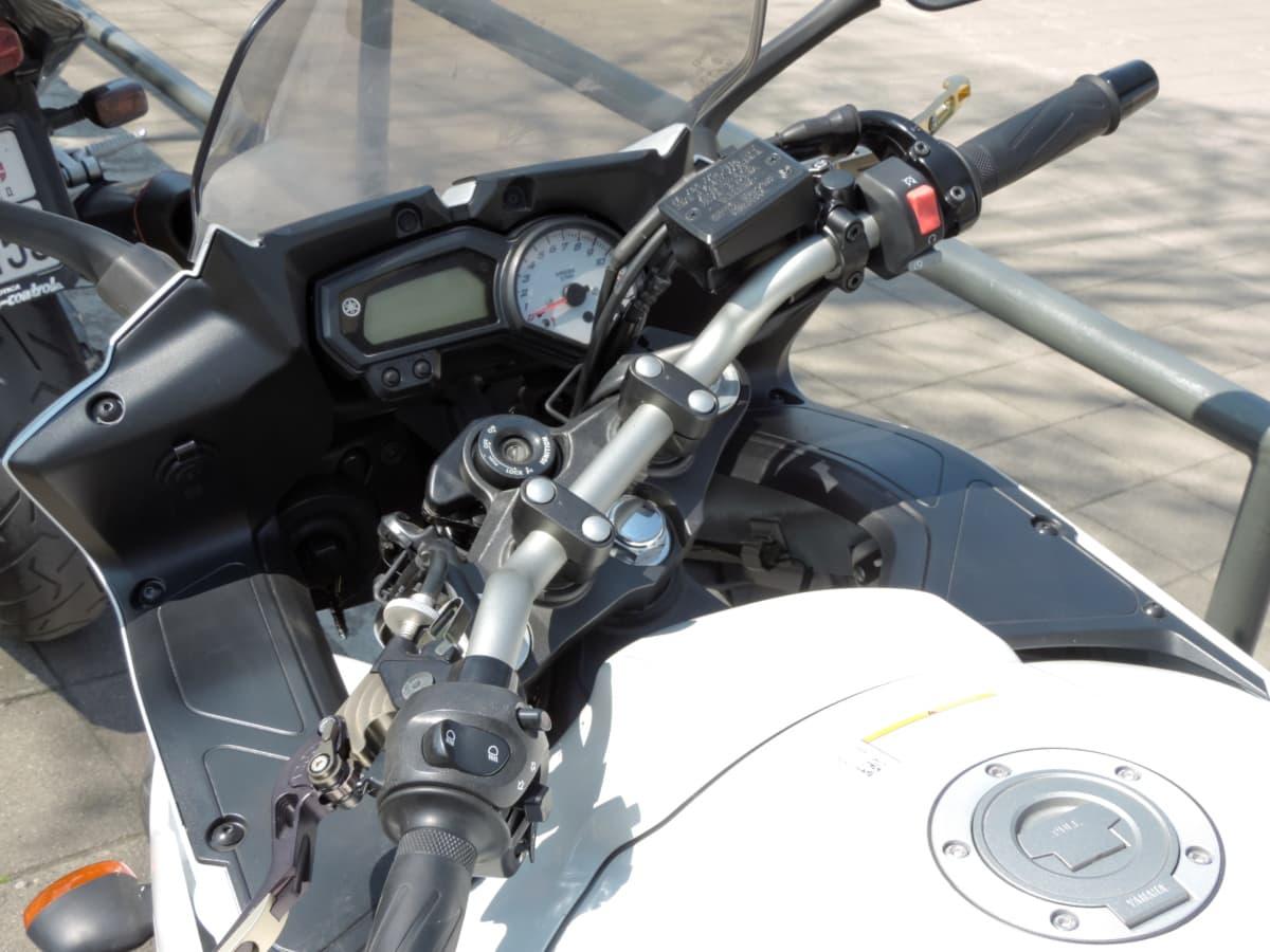 motociclista, coche, coches, cromo, motor de, equipamiento, rápido, industria