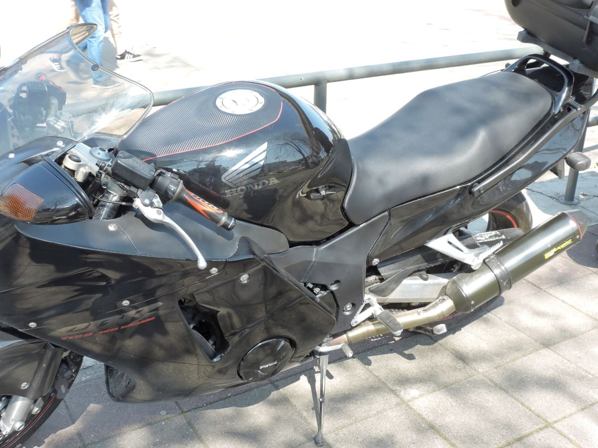 motorcycle, parking lot, chrome, drive, engine, exhibition, fast, machine