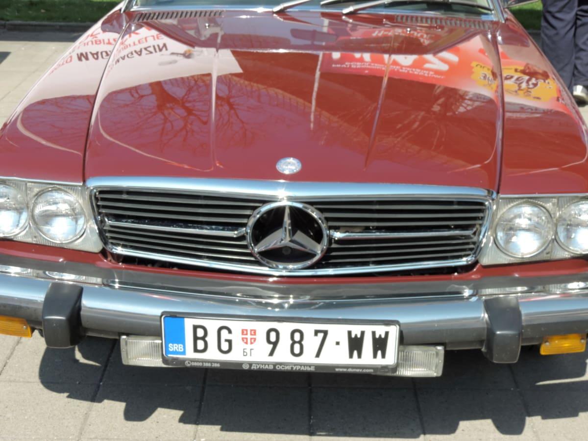 automobile, automotive, bumper, car, chrome, classic, drive, engine