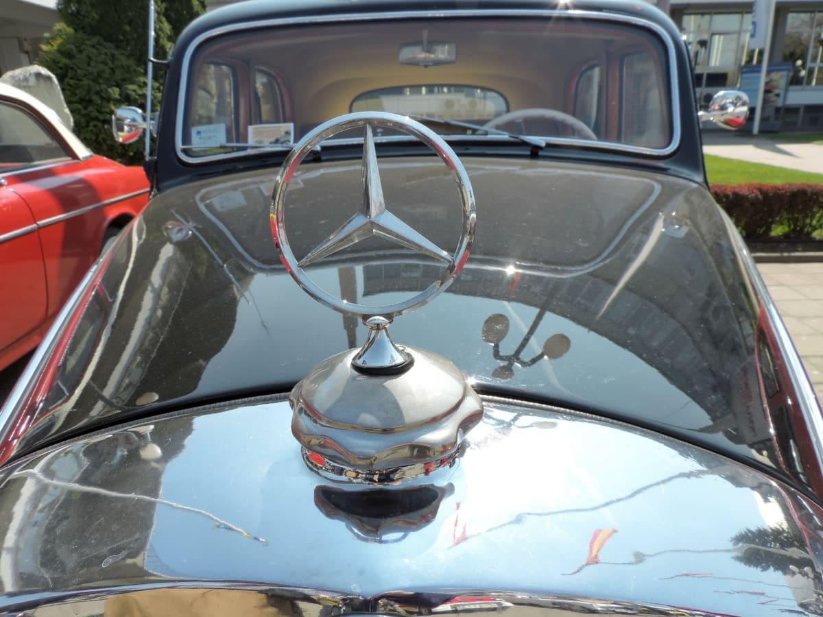 germany, nostalgia, parking lot, windshield, automobile, automotive, car, chrome