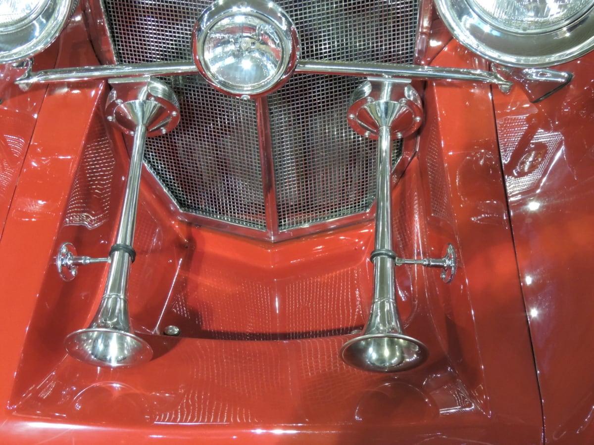 headlight, metallic, chrome, classic, design, equipment, instrument, lamp