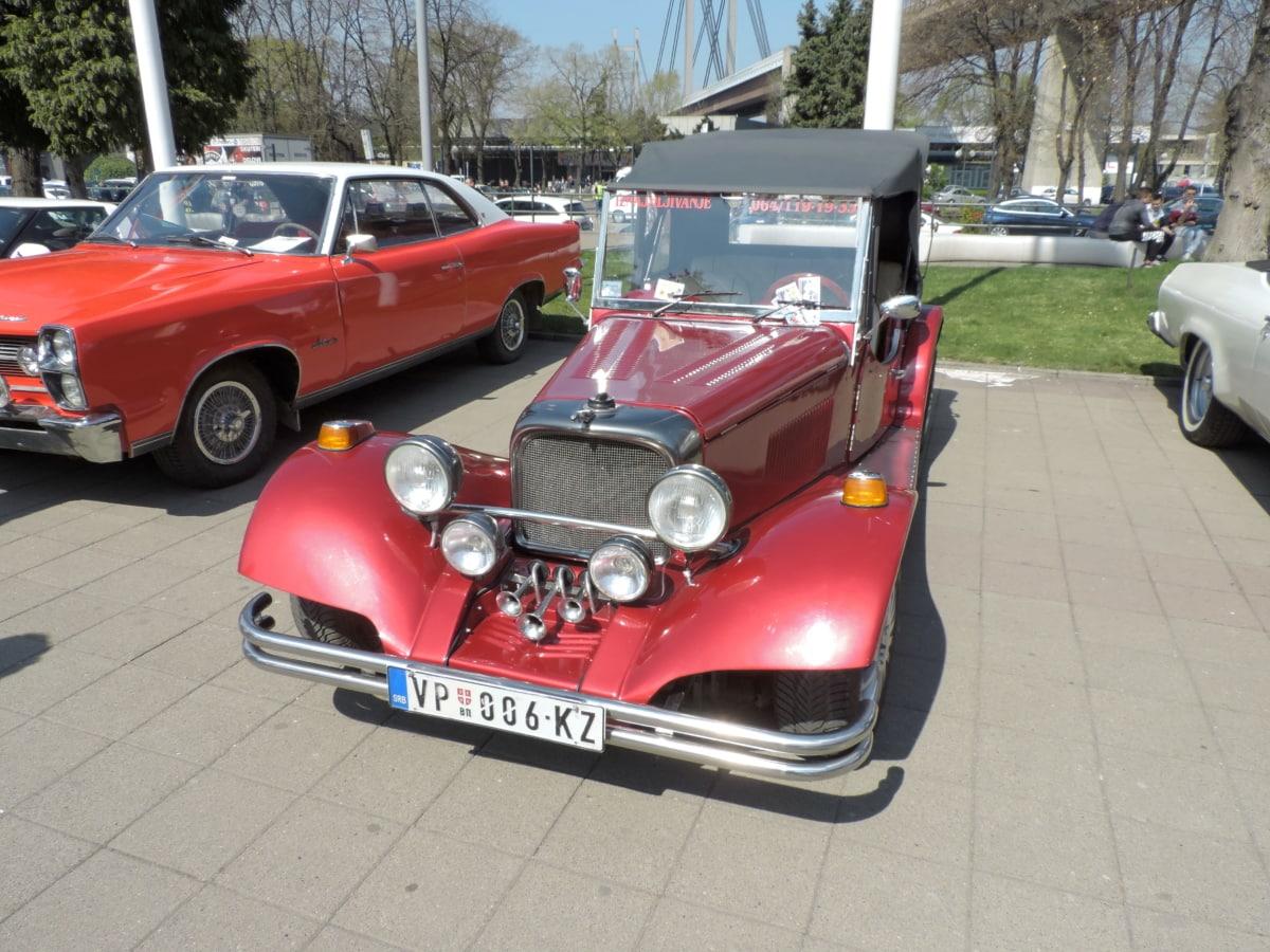 cars, parking lot, show, automobile, automotive, car, chrome, classic