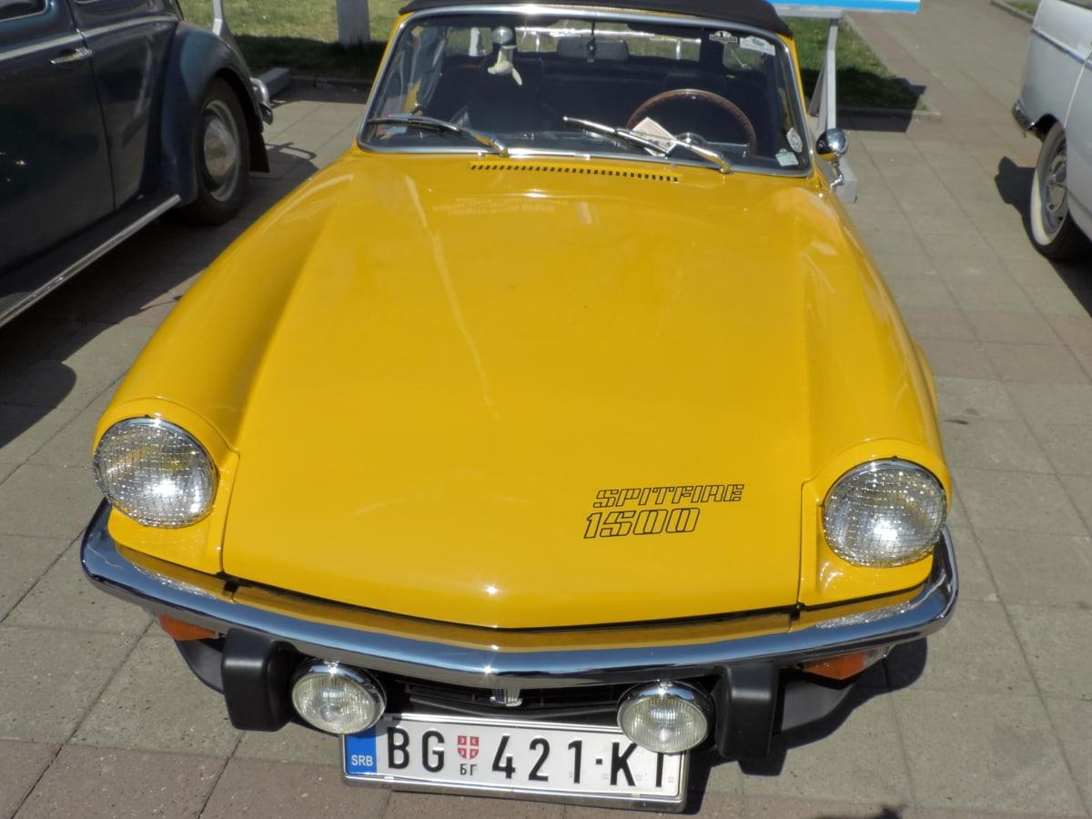 nostalgie, parkovisko, asfalt, automobil, automobilový priemysel, auto, chróm, klasický