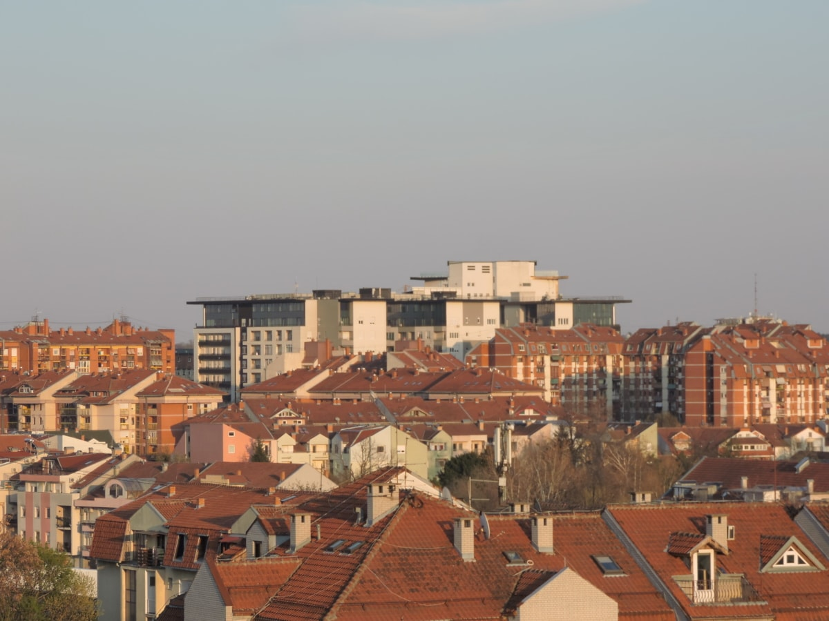 architecture, city, outdoors, house, cityscape, roof, town, building