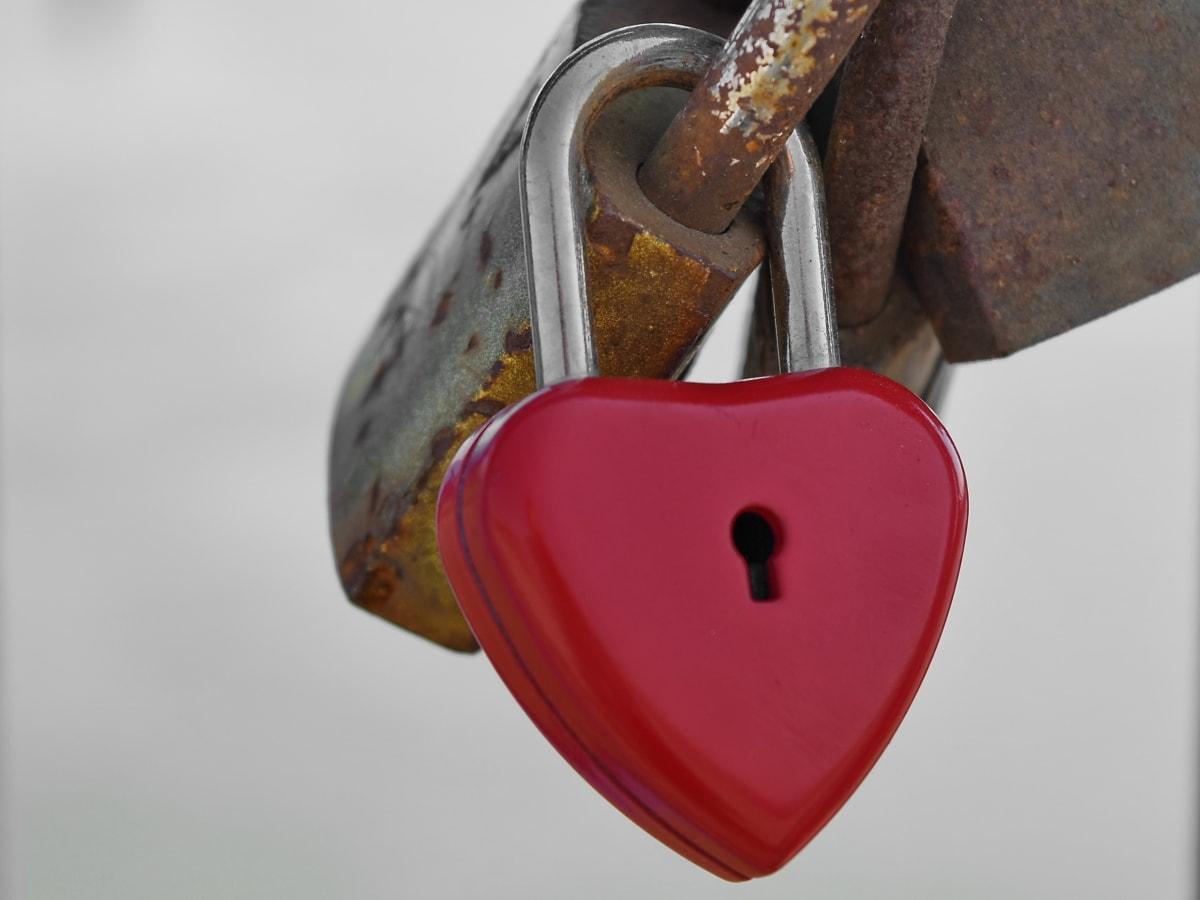 Kostenlose Bild Herz Schlüsselloch Liebe Vorhängeschloss Rot
