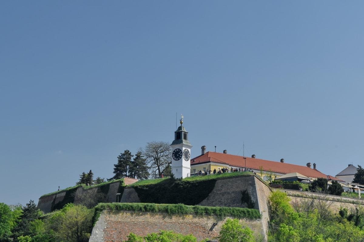 slot, middelalderlige, Serbien, turistattraktion, arkitektur, tårn, bygning, struktur