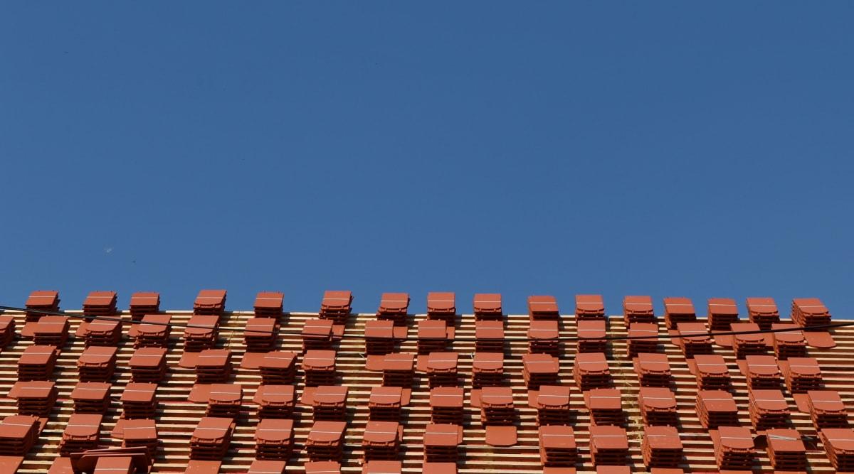 toit, couvrant, pour toiture, architecture, à l'extérieur, technologie, vieux, famille
