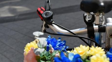 decoración, rueda de manejo, dispositivo, calle, flor, Ciudad, vehículo, al aire libre