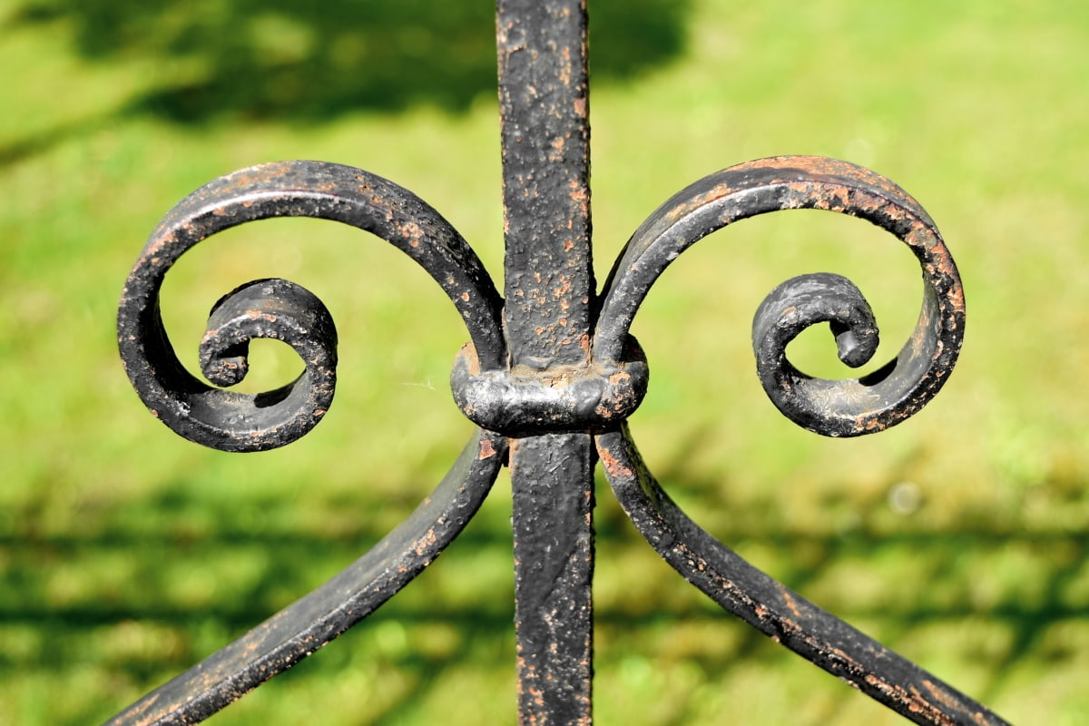 cast iron, fence, handmade, nature, grass, outdoors, protection, iron