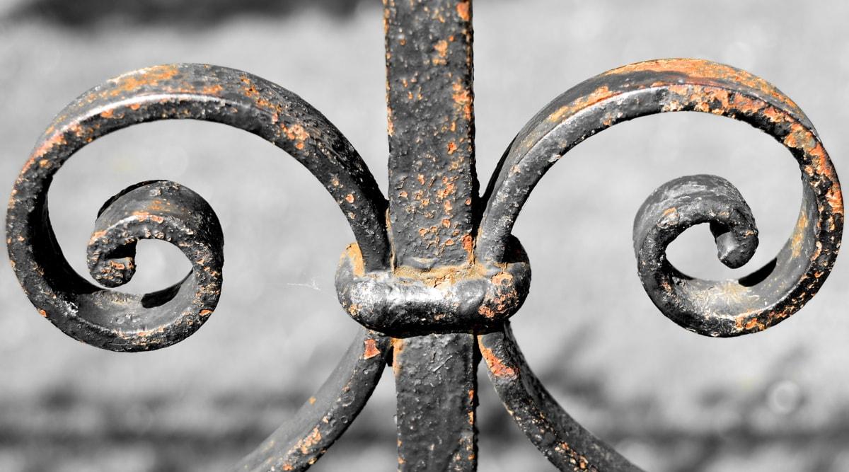 cast iron, rust, steel, iron, knot, fastener, lock, security