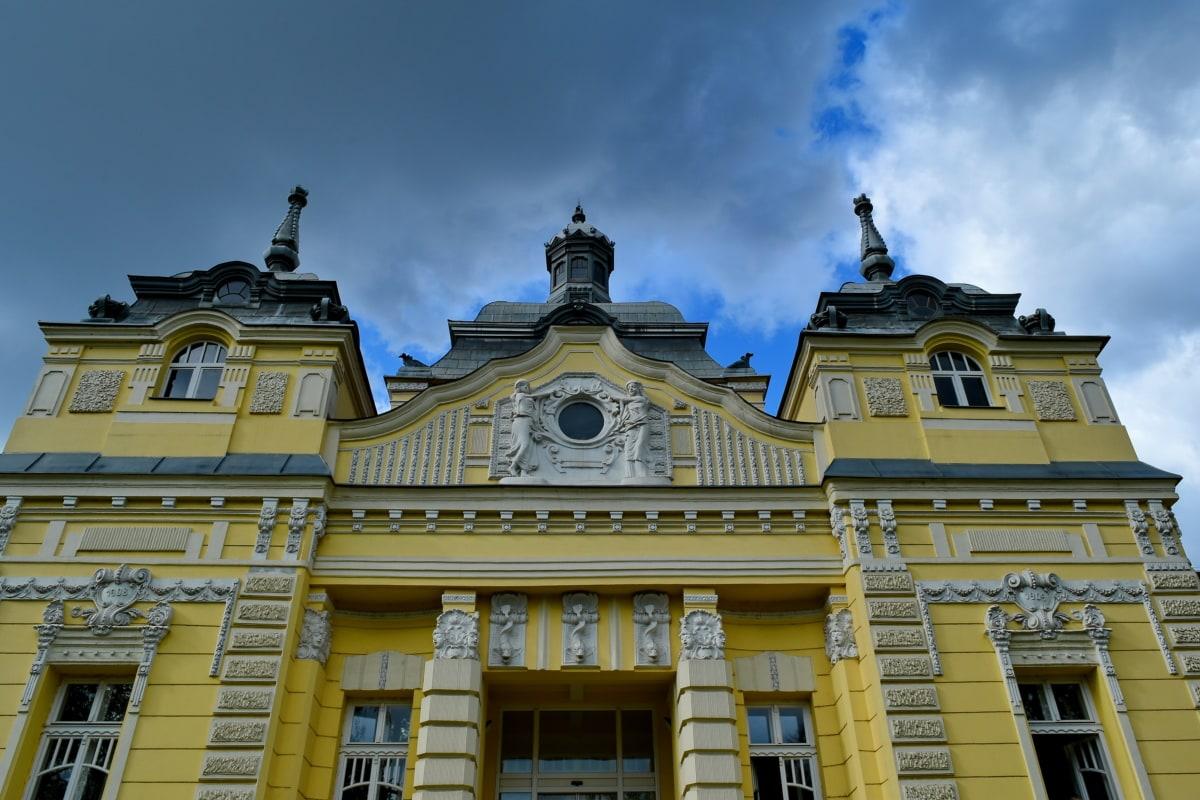 dvorac, baština, luksuzno, palača, rezidencija, reper, zgrada, fasada