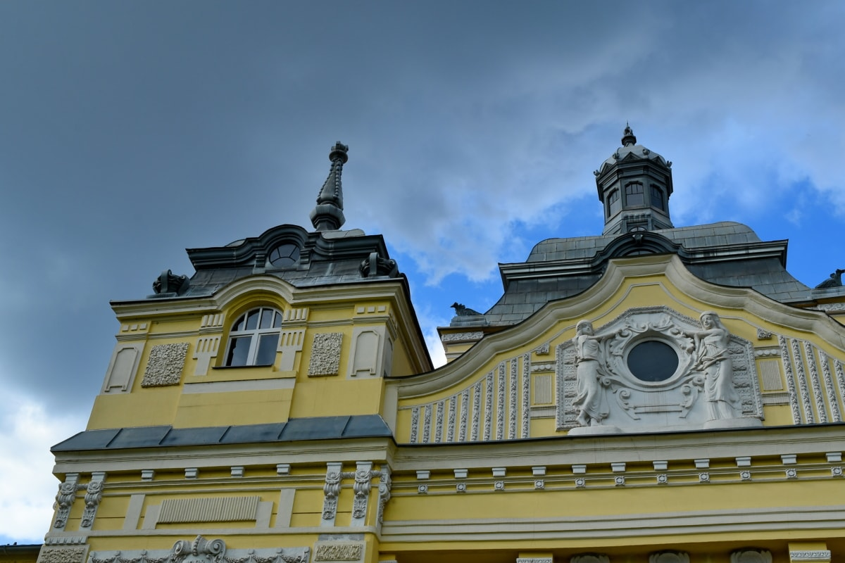 baroque, facade, architecture, roof, building, dome, old, religion