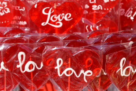 candy, gelatin, heart, love, red, text, Valentine's day, package