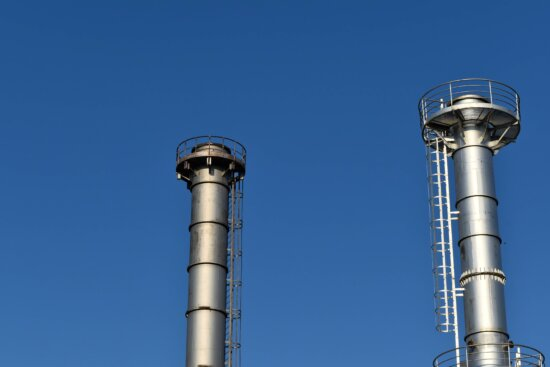 factory, refinery, tower, chimney, industry, pipe, steel, technology