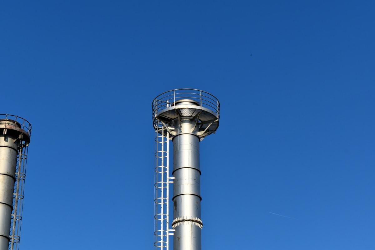 Turm, am Arbeitsplatz, Schornstein, Branche, Technologie, Stahl, Pipe, Ausrüstung