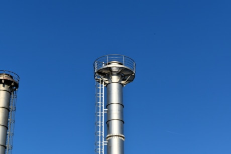 tower, workplace, chimney, industry, technology, steel, pipe, equipment