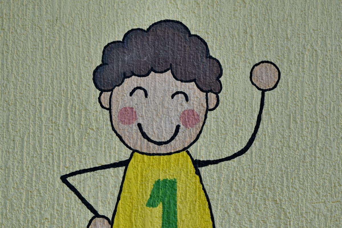 childhood, graffiti, symbol, vintage, design, color, art, illustration