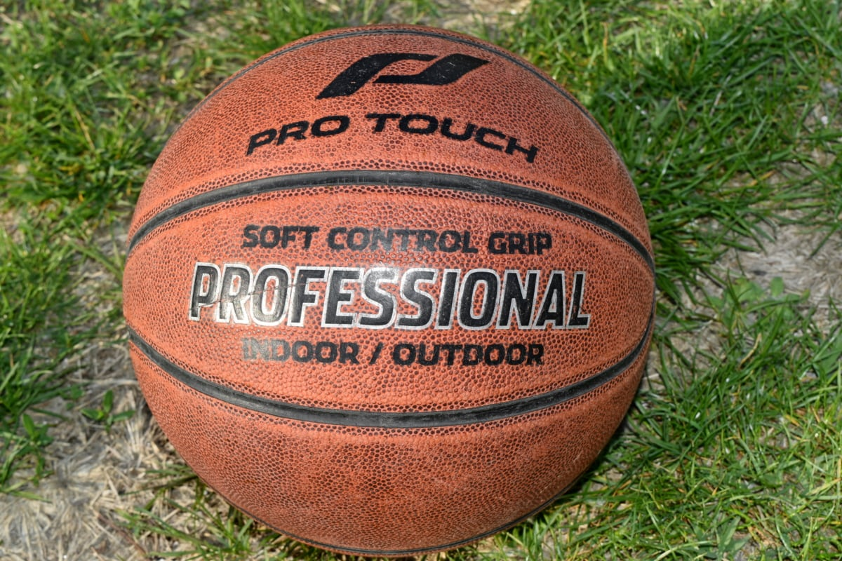 basketball, equipment, game, competition, recreation, outdoors, grass, leather