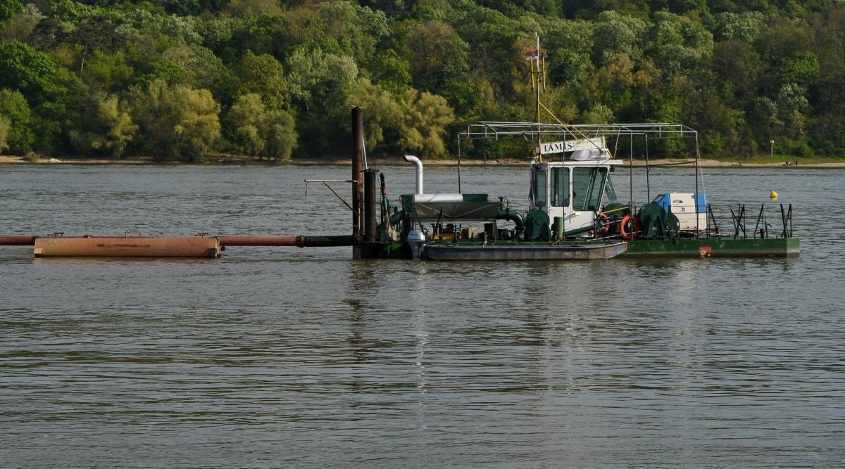 loď, vodní skútry, vozidlo, řeka, loděnice, voda, jezero, povodeň