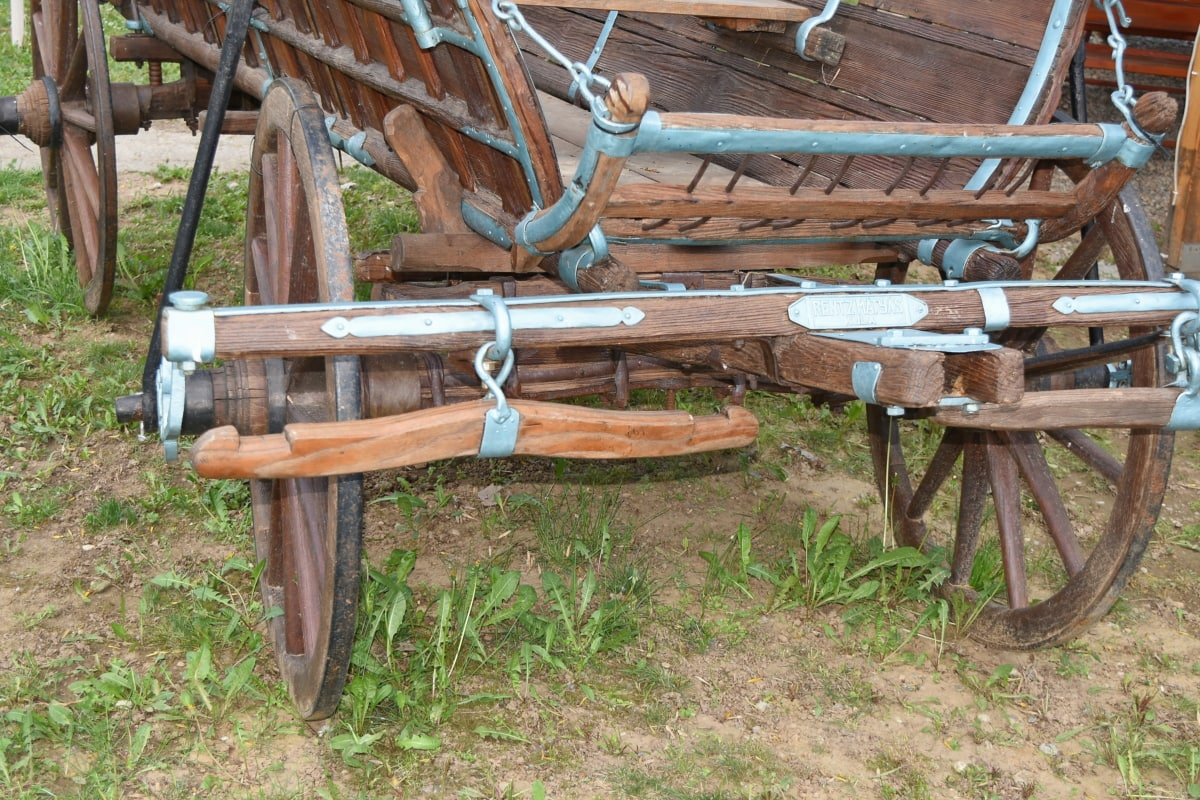 carpentry, detail, wooden, wood, old, cart, vintage, rural