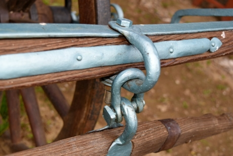 carpentry, cast iron, detail, metal, wood, old, wooden, iron