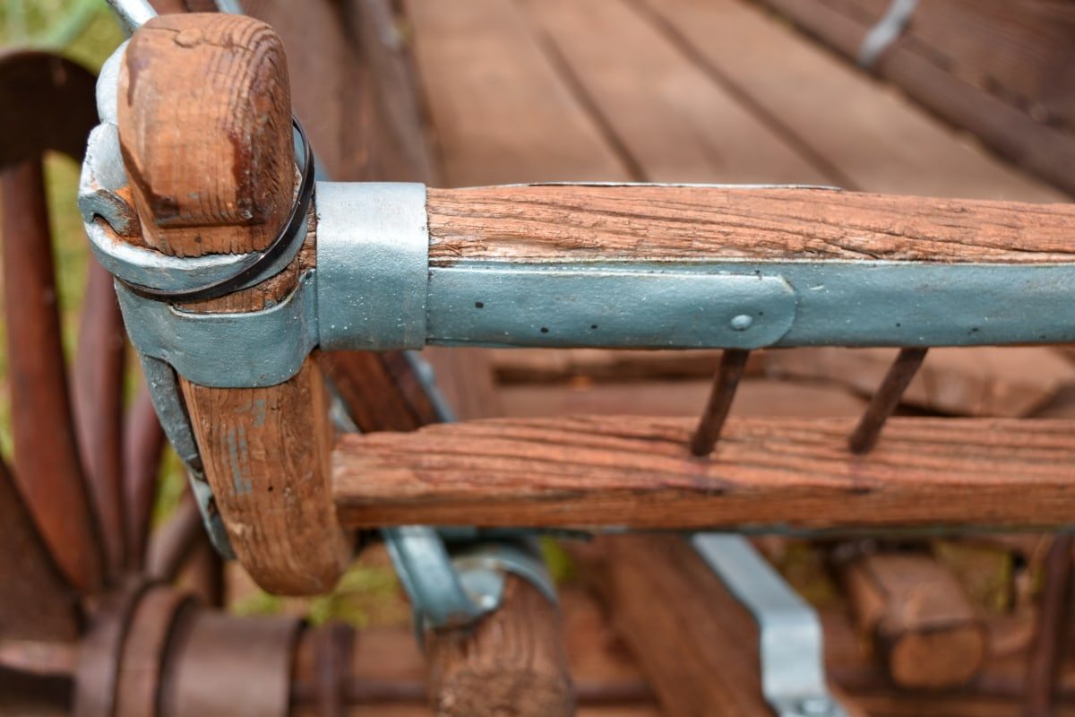 carpentry, cart, wood, old, wooden, handmade, outdoors, antique