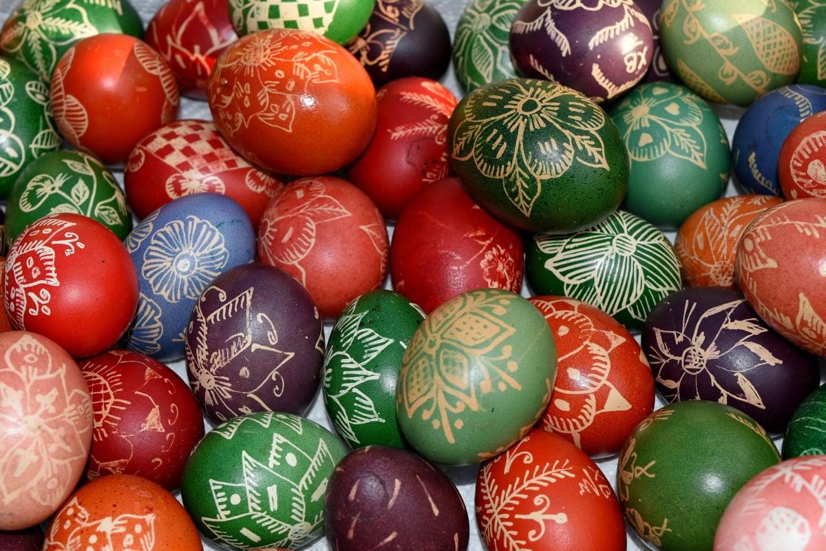 Católica, cristão, férias, decoração, Páscoa, ovo, bola, tradicional