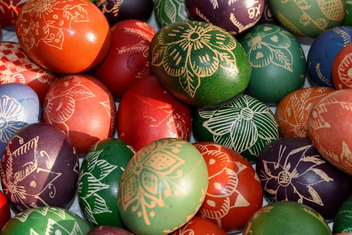 christianity, holiday, egg, easter, decoration, celebration, traditional, shining