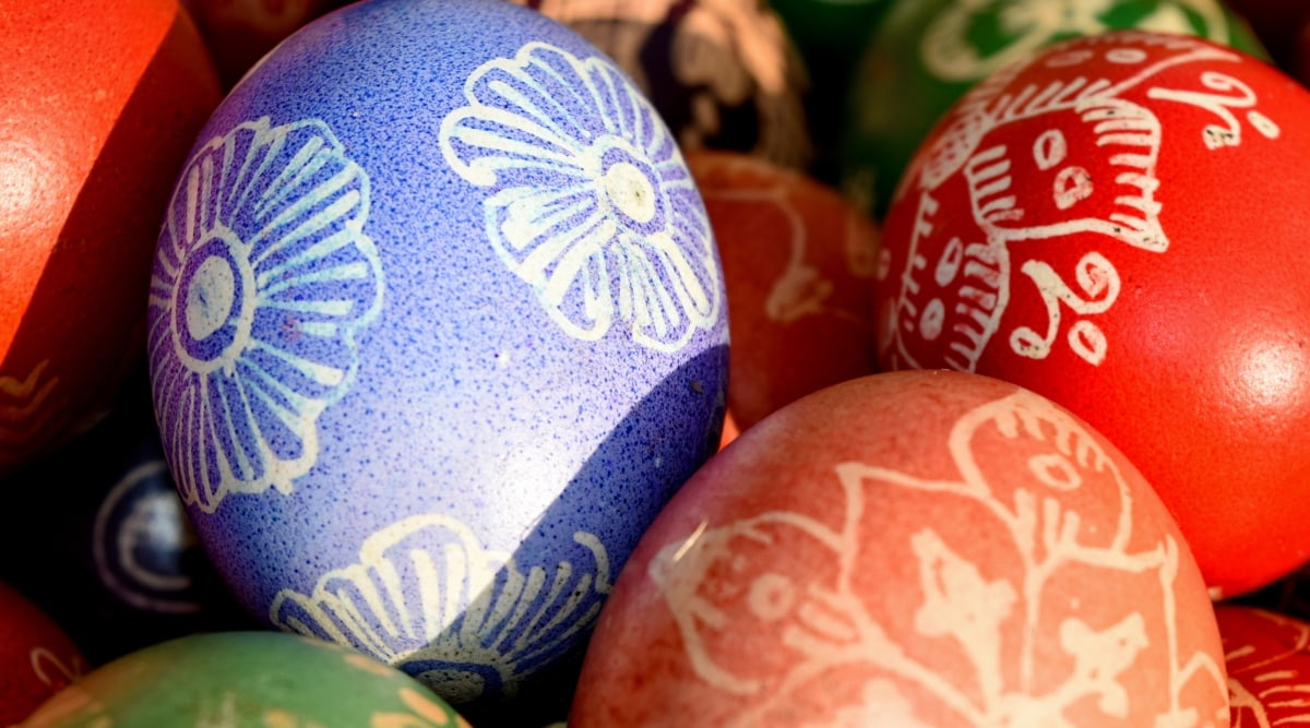 colourful, design, ornamental, decoration, easter, egg, pattern, color