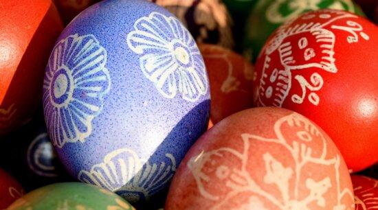 coloré, conception, ornementales, décoration, Pâques, oeuf, modèle, Couleur