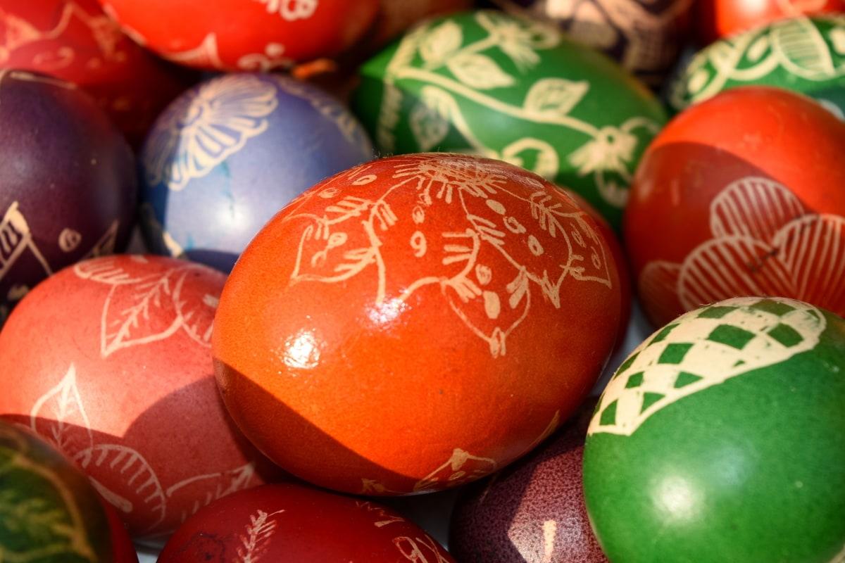 umjetnost, kreativnost, dekoracija, Uskrs, jaje, ljuska od jajeta, ukrasno, tradicionalno