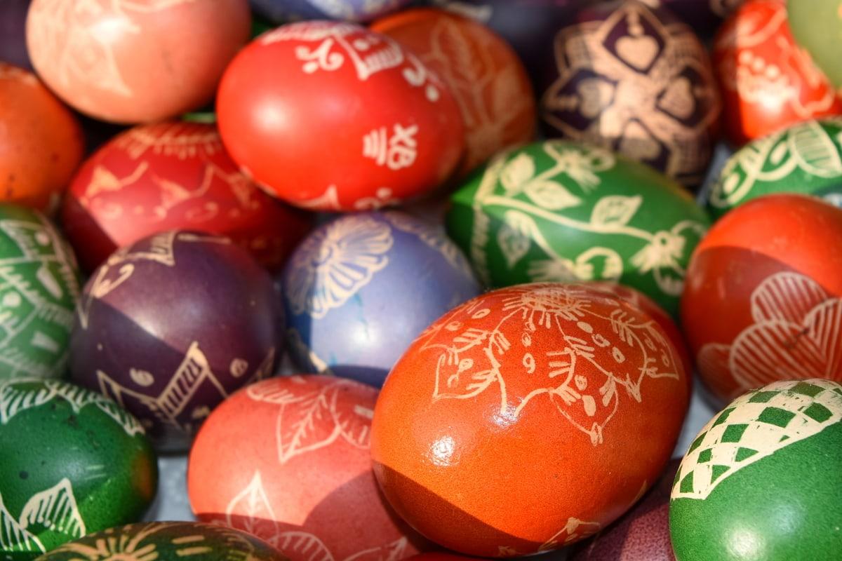 kereszténység, ünnep, Húsvét, dekoráció, tojás, ünnepe, hagyományos, ragyogó