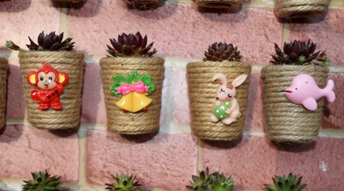 decorazione, vaso di fiori, in miniatura, minimalismo, contenitore, in legno, natura, tradizionale