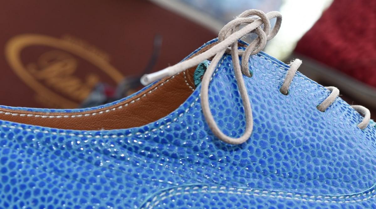 yksityiskohta, käsintehty, ompelu, kenkä, kengännauha, lähikuva, muoti, väri