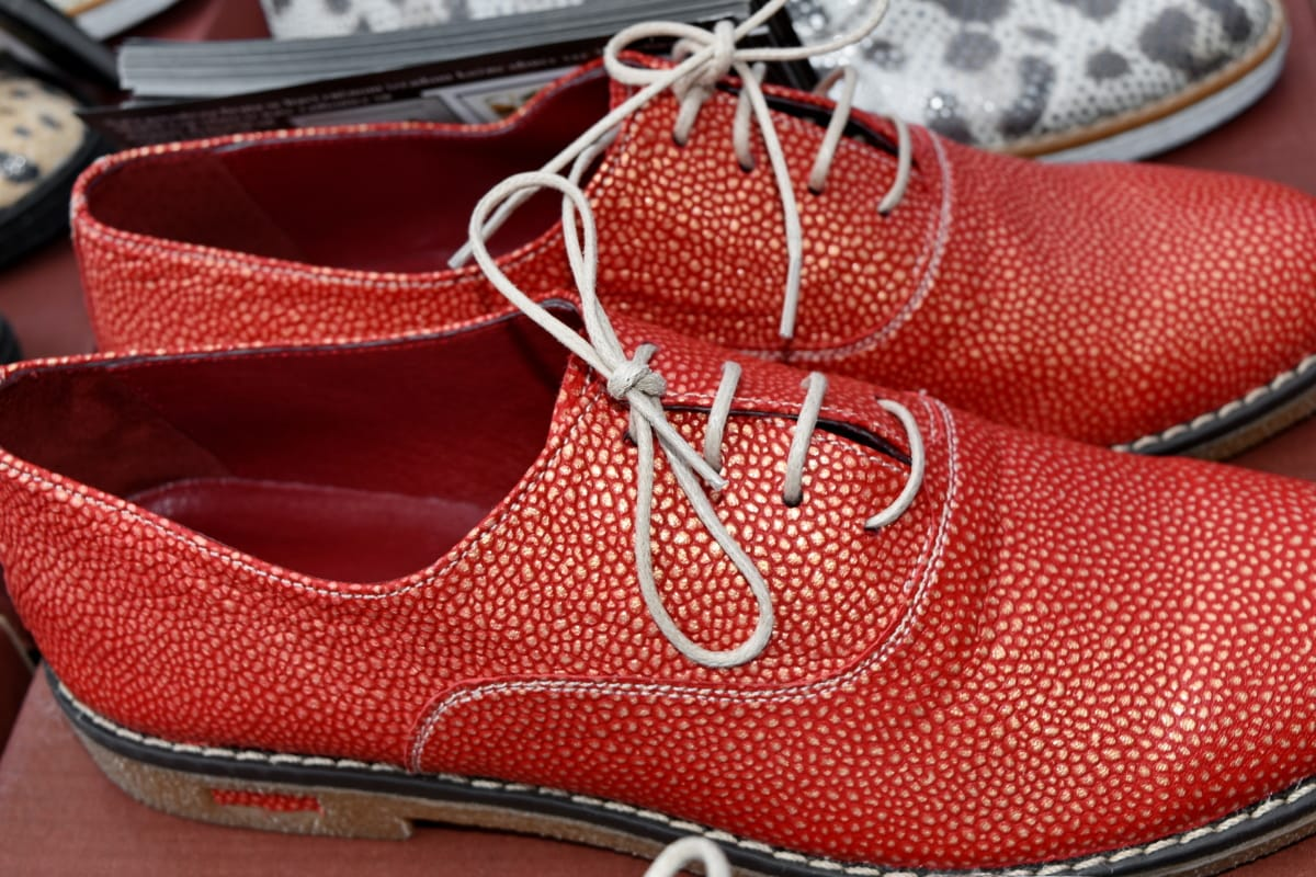 ručni rad, koža, Crveni, modni, obuća, cipela, povremeni, klasični