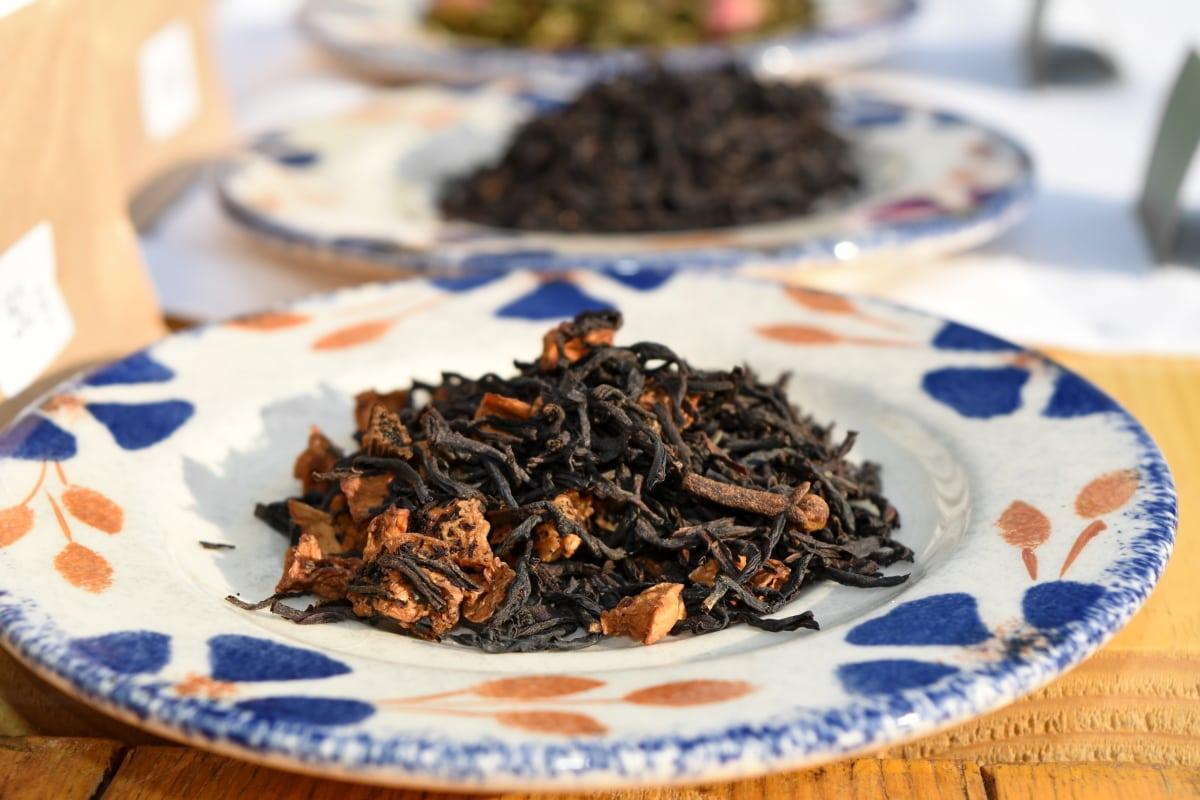 čaj, koření, zdravé, bylina, suché, tradiční, deska, list
