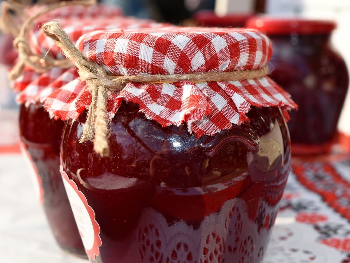jar, gelatin, sweet, berry, fruit, jam, food, homemade