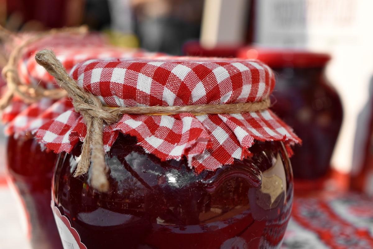 gelatin, buatan tangan, selai, Jar, makanan penutup, Berry, Raspberry, buatan sendiri