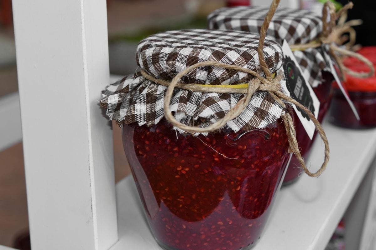handmade, jam, vintage, food, sweet, glass, cooking, decoration