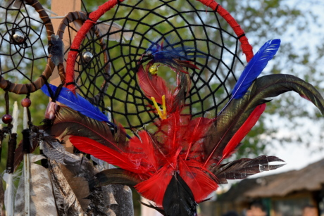 circle, creativity, dream, feather, handmade, object, outdoors, color
